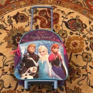 Disney Frozen backpack on wheels